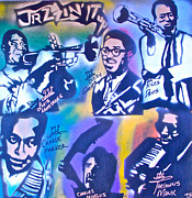 Miles Davis Painting Originals - Jazzin It Up 2 by Tony B Conscious