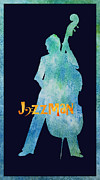 Jazz Mixed Media Framed Prints - Jazzman Framed Print by Jenny Armitage