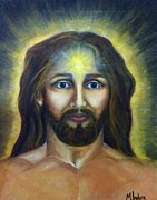 Jesus Art Paintings - Jc by Molly Indura