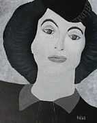Joan Crawford Paintings - Jc by Oscar Penalber