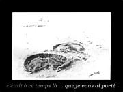 Custom Pet Drawing Prints - Je vous ai porte Print by Marianne NANA Betts