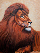 Lion Tapestries - Textiles Framed Prints - Jealous Framed Print by Blanch Paulin