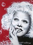Famous Leading Ladies Painting Originals - Jean Harlow by Alicia Hayes