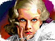 Jean Painting Framed Prints - Jean Harlow Framed Print by Allen Glass