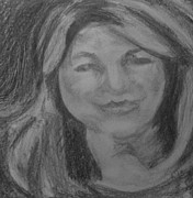 News Drawings - Jean Jadhon WDBJ7 news anchor by John Brewer