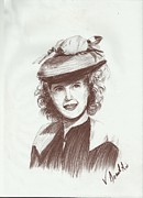 Picture Drawings Originals - Jean Rogers by Vitho R