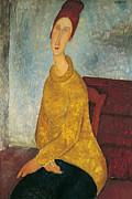Jeanne Hebuterne In Yellow Sweater Print by Amedeo Modigliani