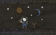 Jeans Stitches Print by Sanely Great