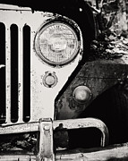 Lisa Russo Prints - Jeep Willys in Black and White Print by Lisa Russo
