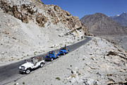 Jeeps Photos - Jeeps on the Karakorum Highway by Robert Preston