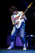 Jeff Beck On Guitar 1 Print by The  Vault - Jennifer Rondinelli Reilly