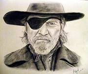 Jeff Bridges As U.s. Marshal Rooster Cogburn Print by Jim Fitzpatrick
