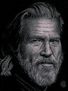 True Grit Drawings Prints - Jeff Bridges Print by Ryan Jacobson
