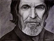 Jeff Drawings - Jeff Bridges by Wade Starr