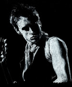 Jeff Drawings - Jeff Buckley 2 by Teresa Beveridge