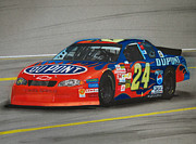 Jeff Gordon Hits Pit Road Print by Paul Kuras