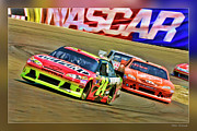 Nascar Digital Art Prints - Jeff Gordon-Nascar Race Print by Blake Richards