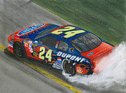 Jeff Mixed Media - Jeff Gordon Wins by Paul Kuras