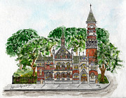 Library Paintings - Jefferson Market Library by Lynn Lieberman