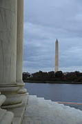 Liberty Photos - Jefferson Memorial and Washington Monument - Washington DC - 01131 by DC Photographer