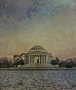 Thomas Jefferson Photo Framed Prints - Jefferson Memorial at Dusk Framed Print by Terry Rowe