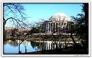 Ts Posters - Jefferson Memorial Poster by Danielle  Parent