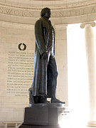 Bronze Photos - Jefferson Memorial in Washington DC by Olivier Le Queinec
