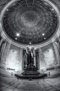 D.w Posters - Jefferson Memorial Interior IV Poster by Clarence Holmes
