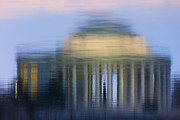 Jefferson Memorial Reflection Print by Clarence Holmes