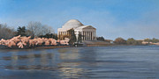 Tidal Basin Paintings - Jefferson Memorial by Suzanne Shelden