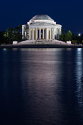 Washington Dc Framed Prints - Jefferson Memorial Washington D C Framed Print by Steve Gadomski