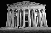 Thomas Jefferson Mixed Media Prints - Jefferson Monument at Night Print by Lane Erickson