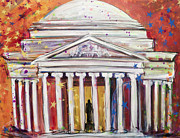 Washington Dc Paintings - Jefferson Sparkles by Mary Gallagher-Stout