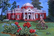 Thomas Jefferson Paintings - Jeffersons Fun by John Trippel