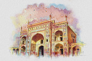 Karachi Lahore Framed Prints - Jehangir Form Framed Print by Catf