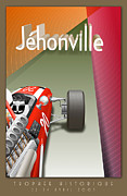 Rally Prints - Jehonville Historic Trophy Classic Car Race Print by Nomad Art And  Design