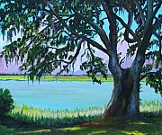 Jekyll Prints - Jekyll Island Oak Print by Eve  Wheeler