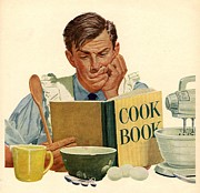 Nineteen Fifties Drawings - Jello 1950s Usa Cooking Recipes Cookery by The Advertising Archives