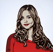 Dr Who Paintings - Jenna by Ian  King