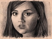 Who Drawings - Jenna-Louise Coleman by Rosalinda Markle