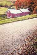 Vermont Fall Foliage Framed Prints - Jenne Farm Vermont Framed Print by Edward Fielding