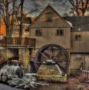 Massachusetts Plymouth Massachusetts Posters - Jenney Grist Mill Poster by Jack Costello