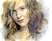 Celebrity Paintings - Jennifer Garner by Maddy Swan
