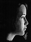 Rosalinda Drawings - Jennifer Lawrence by Rosalinda Markle