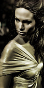 Fashion Designer Framed Prints - Jennifer Lopez Framed Print by Lee Dos Santos