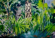 Yards Painting Framed Prints - Jennifers Koi Pond Framed Print by Katrina West
