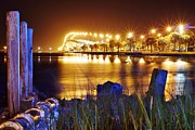 Wibada Photo Prints - Jensen Causeway From N W Side Print by Lynda Dawson-Youngclaus
