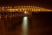 Wibada Photo Prints - Jensen Causeway w - Snook Nook Light Print by Lynda Dawson-Youngclaus