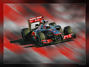 Blake Richards Framed Prints - Jenson Button  Framed Print by Blake Richards