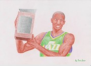 Jeremy Lin Framed Prints - Jeremy Evans Framed Print by Toni Jaso